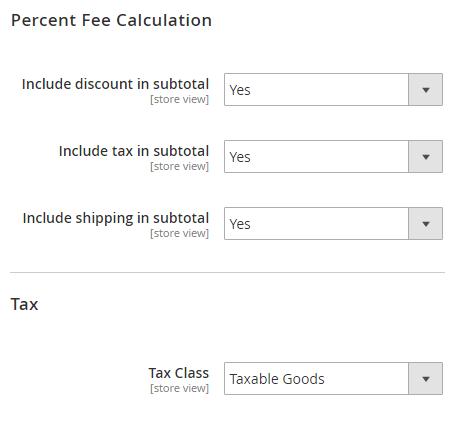 extra fee for magento 2