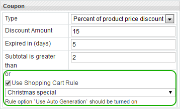 Magento automatic coupon integration