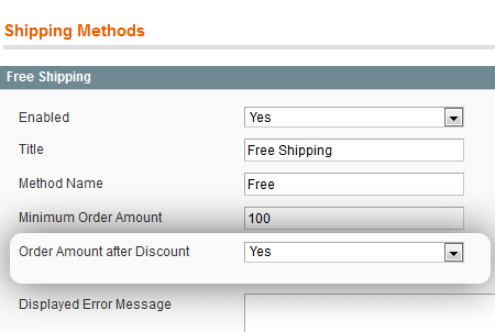 magento free shipping after discount extension