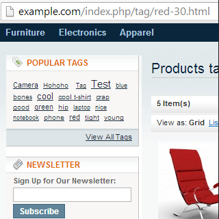 magento import tags
