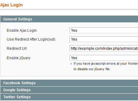 redirect users to any page after logging in with magento ajax login