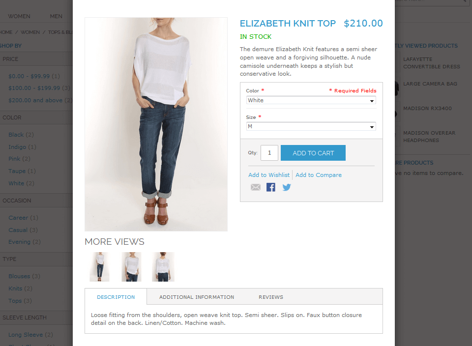 49023ba65a47 Magento Quick View Extension - Magento Product Preview