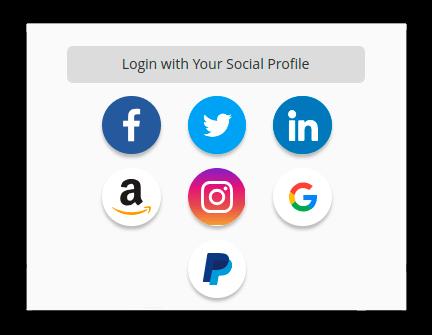 Google Facebook Twitter LinkedIn Instagram Amazon Magento 2