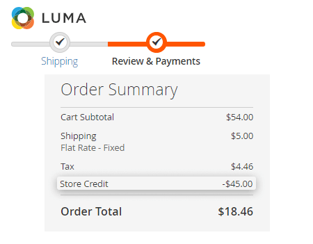store credit and refund for magento 2