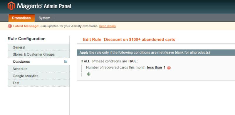 Magento Abandoned cart Email - Amasty