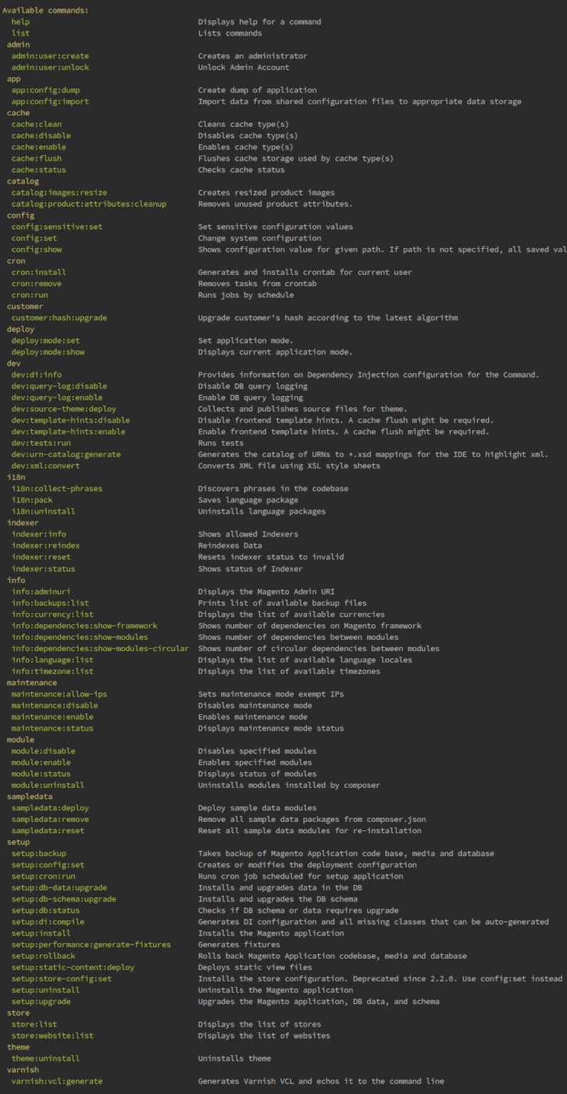 complete-list-of-commands