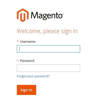 log-in-magento