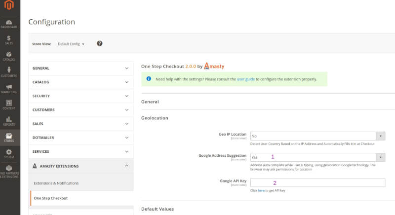 there we enable Google Address autofill