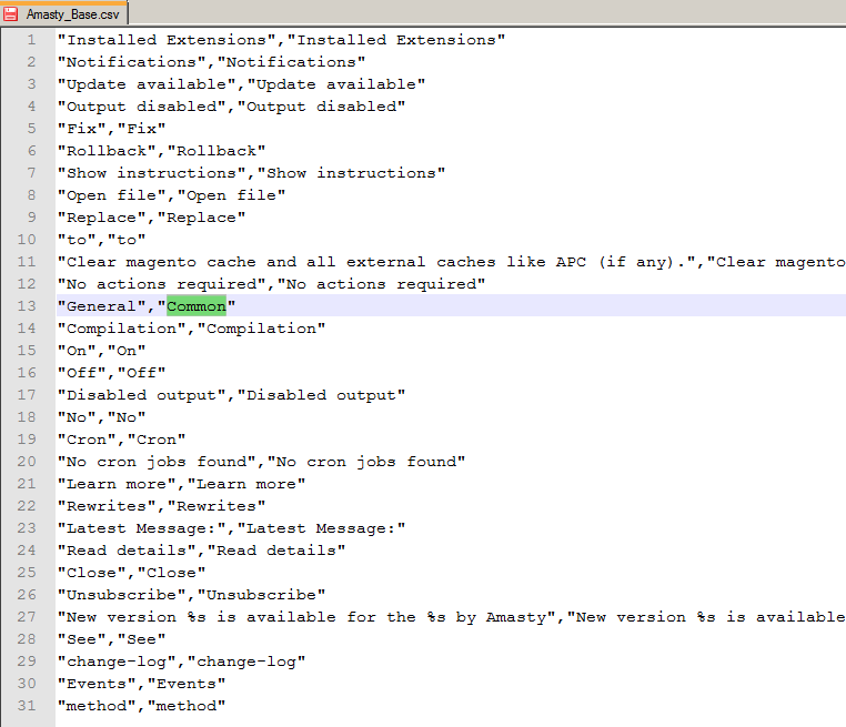 how to translate a Magento extension - csv file