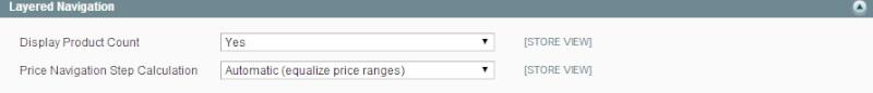 Magento Basci Layered Navigation Filterable Attributes