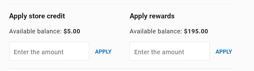 apply reward points at checkout