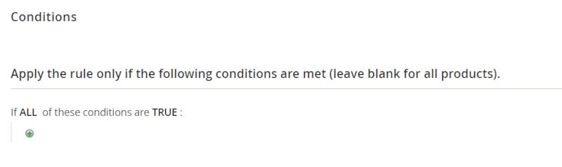 conditions configuration
