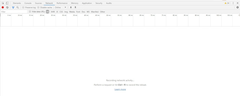 the network tab in the google chrome developer tools