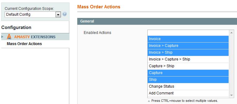Magento Mass Order Actions - Amasty